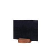 Stojánek kulatý dřevěný na tabulky, stojánek tmavý - 7 cm - 5 ks - 3/3