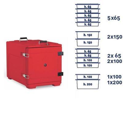 Termoport Melform AF 8 - GN 1/1, červená - 68 l - 11,5 kg - 3