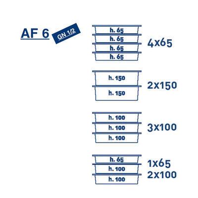 Termoport Melform AF 6 - GN 1/2 - 4