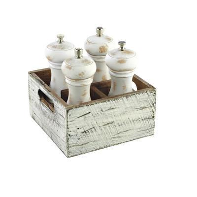 Box dřevěný s přihrádkami Vintage, 17 x 17 x 10 cm - 4 - 4