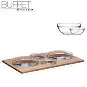 Bufetový modul ICE nerez - 4 misky, nerez ICE - světlý/4misky - 13 cm - 4/6