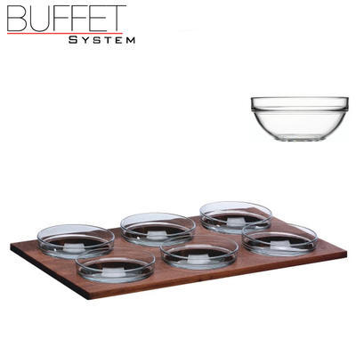 Bufetový modul 6 nerez - 6 misek, nerez - světlý/6misek - 13 cm - 4