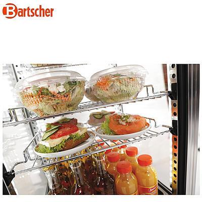 Chladicí mini vitrína 78 l Bartscher nerez, 430 x 390 x 986 mm - 78 l - 0,18 kW / 230 V - 4