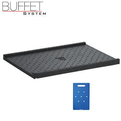 Bufetový modul ICE nerez s 2x GN1/2-40 a rolltop akryl, nerez ICE - 2GN/poklop - 13 cm - 4