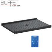 Bufetový modul ICE nerez s 2x GN1/2-40 a rolltop akryl, nerez ICE - 2GN/poklop - 13 cm - 4/5