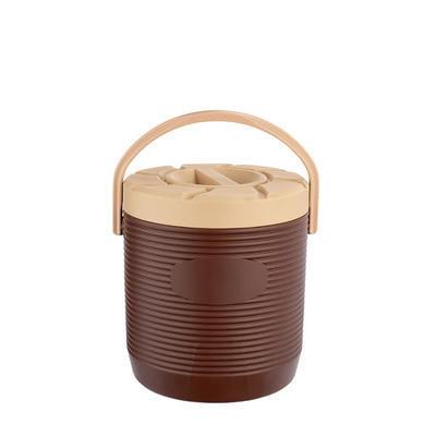 Zásobník na nápoje a pokrmy plastový 12 až 17 l, bez kohoutu/hnědý - 17 l - PR 30 x V 45 vm - 4