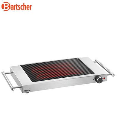 Grilovací deska keramická rýhovaná Bartscher, 640 x 365 x 63 mm - 1,2 kW / 220-240 V - 4,3 kg - 4