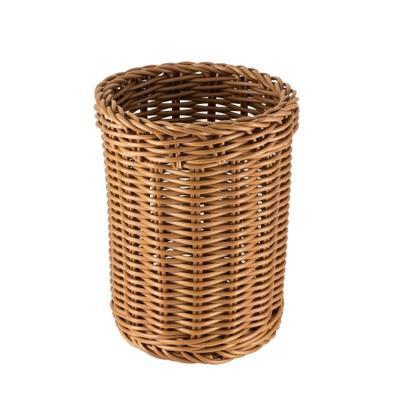 Košík na příbory kulatý, černý - 11,5 x 15 cm - 4