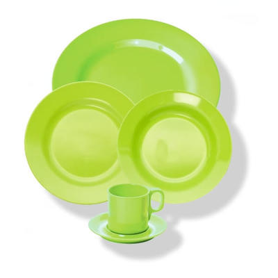 Šálek a podšálek melamin barevný, šálek - zelená - 0,25 l - 4