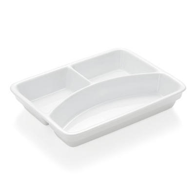 Podnos jídelní porcelánový, 3 dílný - 23,5 x 17,5 x 4,5 cm - 4