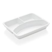 Podnos jídelní porcelánový, silikonové víko - 24 x 18 x 1 cm - 4/5