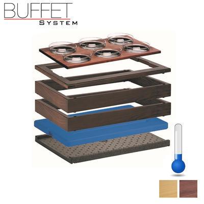 Bufetový modul 1/1 chlazený 6 misek, tmavý buk - 13,0 cm - 4