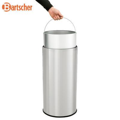Odpadkový koš s výklopným víkem Bartscher, 350 x 350 x 750 mm - 50 l - 6,3 kg - 4