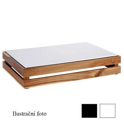 Plato melamin Zero GN bílé a černé, GN 1/1 - 53,0 x 32,5 x 1,5 cm - černá - 4