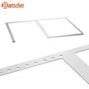 Police pro Snackpoint 200 Bartscher, M6 = plocha / výřez - 345 x 545 / 345 x 545 mm - 2,85 kg - 4/7