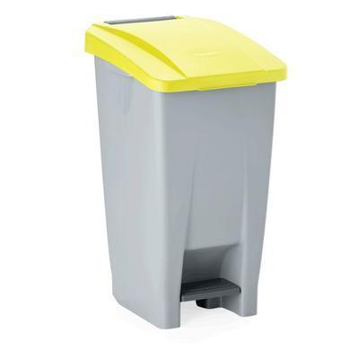 Odpadkový koš 60, 80 a 120 l s víkem, 60 l - 38 x 49 x 70 cm - modré víko - 4