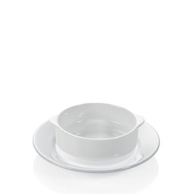 Šálek a podšálek na polévku s držadly, šálek polévkový - 0,26 l - 10 x 5,5 cm - 4