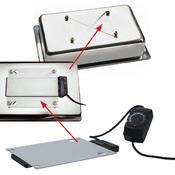 Bufetový modul pro teplé pokrmy nerez, teplý modul nerez - 20 cm - 57 x 36 cm - 4/4