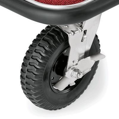 Recepční vozík plošinový, barva ocelová / bordó - 113 x 61,5 x 98 cm - 4