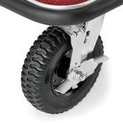 Recepční vozík plošinový, barva ocelová / bordó - 113 x 61,5 x 98 cm - 4/4
