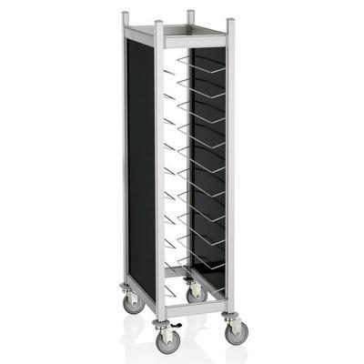 Vozíky na podnosy Cucina s bočním opláštěním, na 20 táců GN 1/1 - černá - 66,5 x 82 x 168 cm - 4