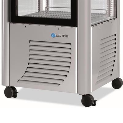 Chladicí vitrína Scaiola 400F, 400 l - 700 x 700 x 1840 mm - 230 V - 5