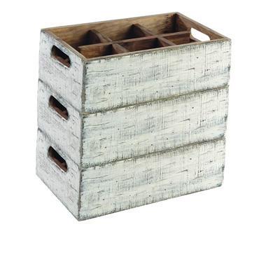 Box dřevěný s přihrádkami Vintage, 17 x 17 x 10 cm - 4 - 5