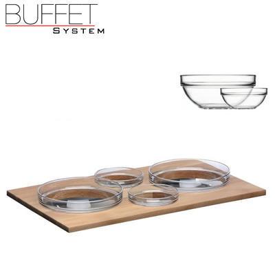 Bufetový modul 4 nerez - 4 misky, nerez - tmavý/4misky - 6,5 cm - 5
