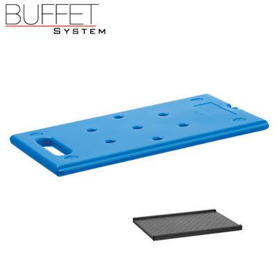 Bufetový modul ICE nerez s 2x GN1/2-40 a rolltop akryl, nerez ICE - 2GN/poklop - 13 cm - 5