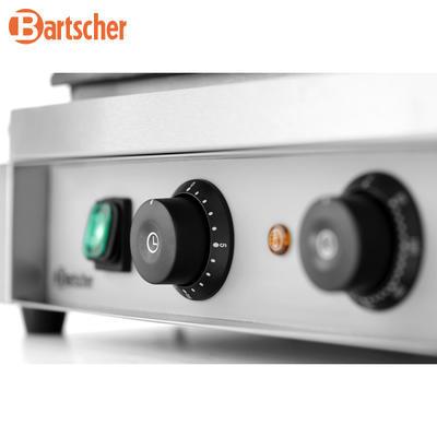 Gril kontaktní Panini T hladké desky Bartscher, 410 x 400 x 200 mm - 2,2 kW / 230 V - 18 kg - 5