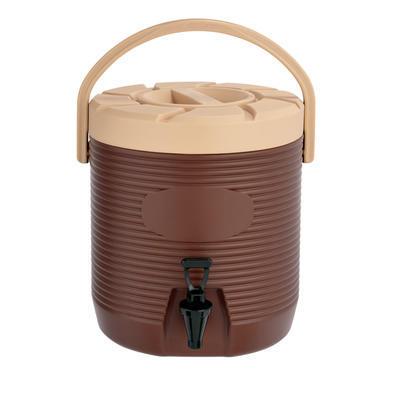 Zásobník na nápoje a pokrmy plastový 12 až 17 l, bez kohoutu/hnědý - 17 l - PR 30 x V 45 vm - 5