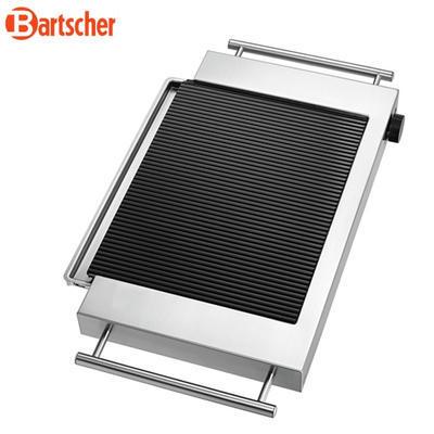 Grilovací deska keramická rýhovaná Bartscher, 640 x 365 x 63 mm - 1,2 kW / 220-240 V - 4,3 kg - 5