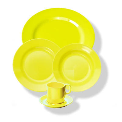 Šálek a podšálek melamin barevný, šálek - zelená - 0,25 l - 5