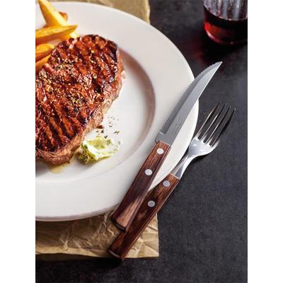 Příbor na pizzu a steaky Tramontina, vidlička - 20 cm - hnědá - 5