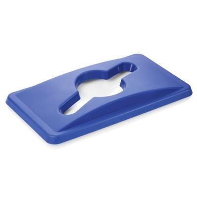 Víko na nádobu na odpad 65 l, modrá - 52 x 29 x 5 cm - 5