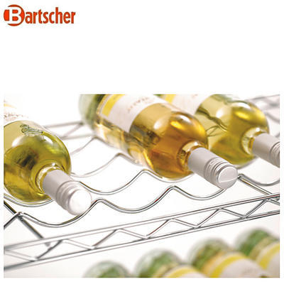 Regál na víno Bartscher, 915 x 355 x 1370 mm - 100-130 ks lahví - 12,5 kg - 5
