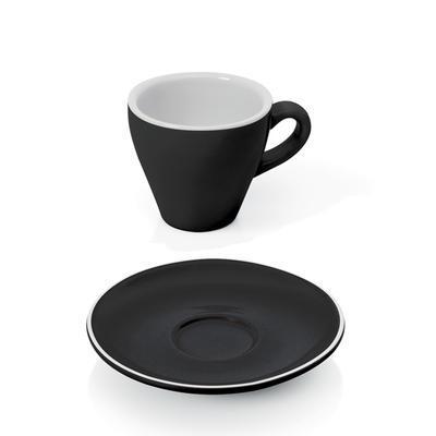 Šálek a podšálek na espresso Italia, šálek bílý - 6 x 6,5 cm - 0,09 l - 5