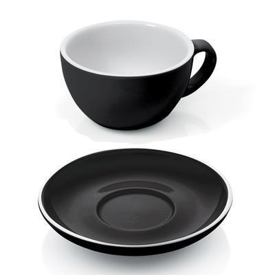 Šálek a podšálek na cappuccino Italia, šálek bílý - PR 9,5 x V 5,5 cm - 0,20 l - 5