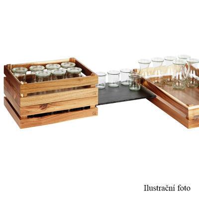 Bufetový systém Megabox dřevo, pro GN 1/2 - 350 x 290 x 105 mm - 5