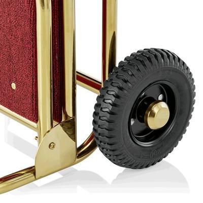 Recepční vozík Suite, zlatá - bordó - 61 x 70,5 x 121 cm - 5