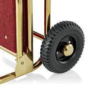 Recepční vozík Suite, zlatá - bordó - 61 x 70,5 x 121 cm - 5/6