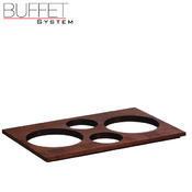 Bufetový modul 4 nerez - 4 misky, nerez - tmavý/4misky - 6,5 cm - 6/7