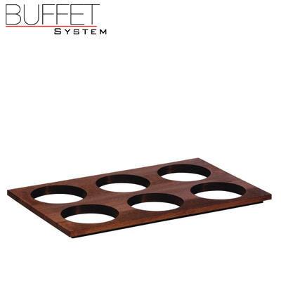 Bufetový modul 6 nerez - 6 misek, nerez - světlý/6misek - 13 cm - 6
