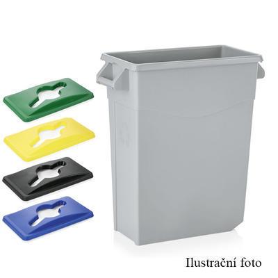 Víko na nádobu na odpad 65 l, modrá - 52 x 29 x 5 cm - 6