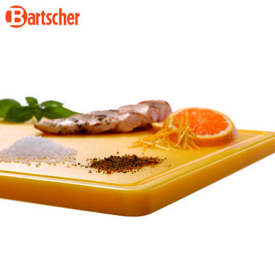 Prkno krájecí barevné PRO Bartscher, žluté - 530 x 325 x 24 mm - 3,2 kg - 6