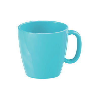 Šálek dětský s uchem barevný, modrá - 0,23 l - 6