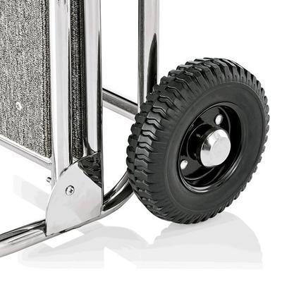 Recepční vozík Suite, zlatá - bordó - 61 x 70,5 x 121 cm - 6