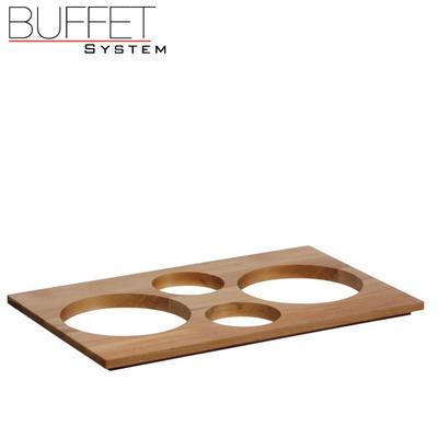 Bufetový modul 4 nerez - 4 misky, nerez - tmavý/4misky - 6,5 cm - 7