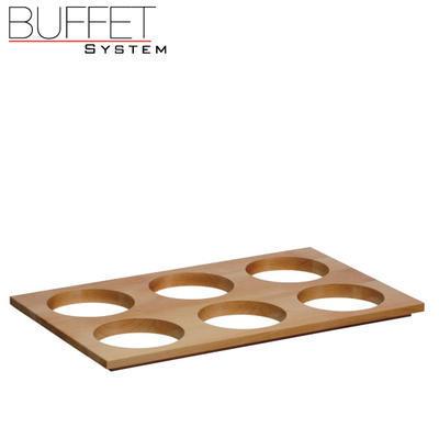 Bufetový modul 6 nerez - 6 misek, nerez - světlý/6misek - 13 cm - 7